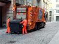 Arbeiten auf dem Gelände einer Müllverbrennung
